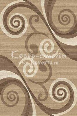 Ковёр MEGA CARVING-d263-LIGHT BEIGE-Stan