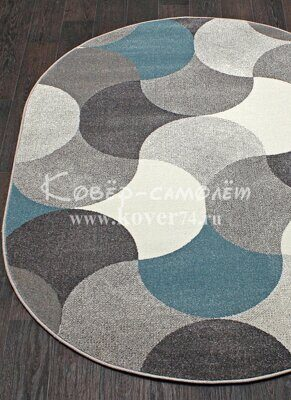 Ковёр SOFIT-2257-LIGHT GRAY-Oval