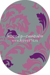 Ковёр SUNRISE-v812-GRAY-LILAC-Oval