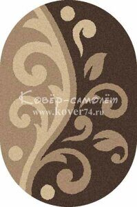 Ковёр PLATINUM-t621-D.BEIGE-BROWN-Oval