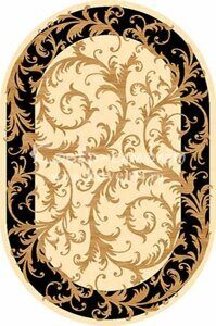 Ковёр OLYMPOS-d156-CREAM-BLACK-Oval
