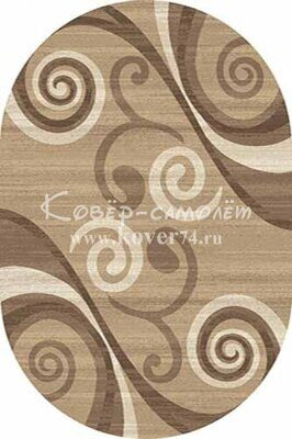 Ковёр MEGA CARVING-d263-LIGHT BEIGE-Oval