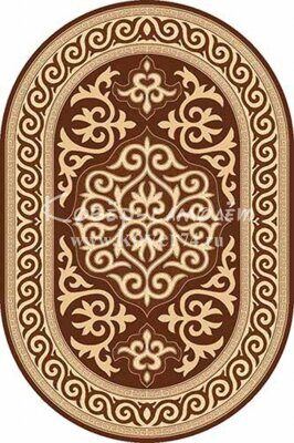 Ковёр DA VINCI-d153-BROWN-Oval