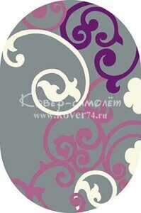 Ковёр SUNRISE-v805-GRAY-LILAC-Oval